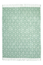 Jacquard-weave blanket - Dusky green - Home All | H&M CN 2