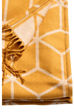 Jacquard-weave blanket - Mustard yellow - Home All | H&M CN 2