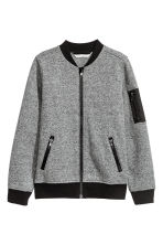 Bomber jacket - Grey marl -  | H&M 2
