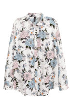 Viscose shirt - White/Floral - Ladies | H&M CN 2
