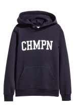 Printed hooded top - Dark blue - Kids | H&M 2