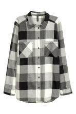 Cotton shirt - Black/White/Checked - Ladies | H&M 2