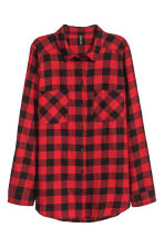 Cotton shirt - Red/Checked - Ladies | H&M CN 2