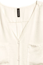 V-neck blouse - Natural white - Ladies | H&M 3