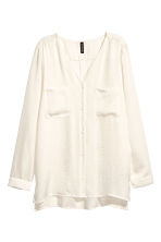 V-neck blouse - Natural white - Ladies | H&M 2