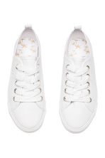 Canvas trainers - White -  | H&M 3