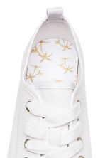Canvas trainers - White -  | H&M 4