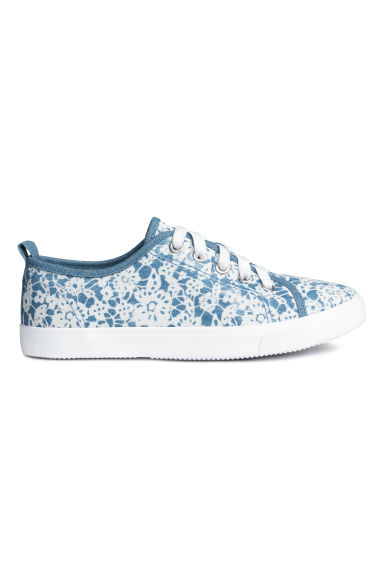 Sneakers i canvas - Blå/Mönstrad - Kids | H&M FI 1