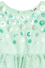 Tulle dress - Mint green -  | H&M 3