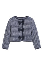 Textured-weave jacket - Dark blue - Kids | H&M 2
