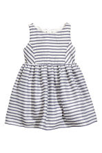 條紋洋裝 - White/Dark blue/Striped - Kids | H&M 2