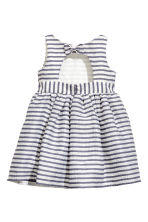條紋洋裝 - White/Dark blue/Striped - Kids | H&M 3