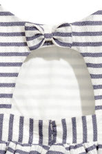 條紋洋裝 - White/Dark blue/Striped - Kids | H&M 4