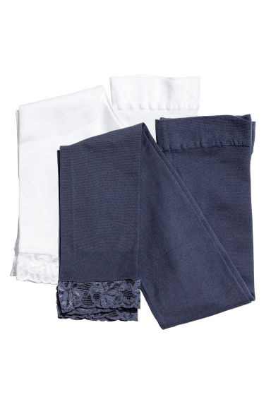 2-pack leggings - Dark blue - Kids | H&M CN 1