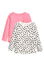 2-pack tops - White/Spotted -  | H&M CN 1