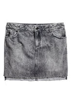 Denim skirt - Black washed out - Ladies | H&M 2