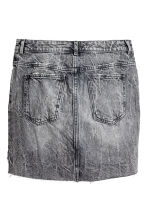 Denim skirt - Black washed out - Ladies | H&M 3