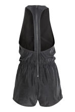 Sleeveless playsuit - Black - Ladies | H&M 3