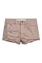 Denim shorts Skinny Regular - Beige -  | H&M 2