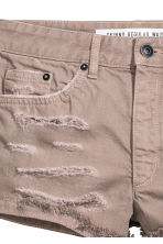 Denim shorts Skinny Regular - Beige -  | H&M 4