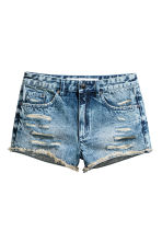 Denim shorts Skinny Regular - Denim blue - Ladies | H&M CN 2