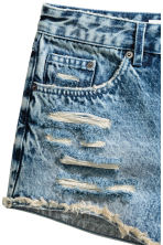 Denim shorts Skinny Regular - Denim blue -  | H&M 4