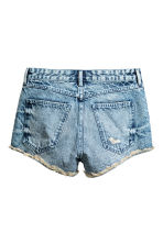 Denim shorts Skinny Regular - Denim blue - Ladies | H&M CN 3