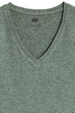 T-shirt scollo a V Slim fit - Verde mélange -  | H&M IT 2