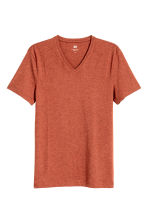 V-neck T-shirt Slim fit - Rust marl - Men | H&M 2