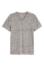 V-neck T-shirt Slim fit - Grey marl - Men | H&M CN 2