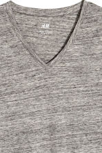 V-neck T-shirt Slim fit - Grey marl - Men | H&M CN 3