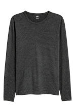Long-sleeved T-shirt Slim fit - Black/Narrow striped - Men | H&M 2