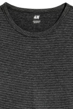 Long-sleeved T-shirt Slim fit - Black/Narrow striped - Men | H&M 3