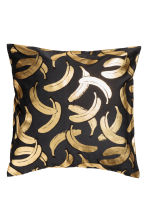 Patterned cushion cover - Anthracite grey/Bananas - Home All | H&M CN 1