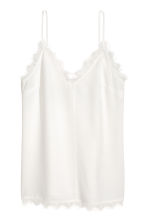Strappy top with lace - White - Ladies | H&M CN 2