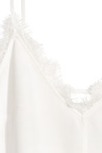 Strappy top with lace - White - Ladies | H&M CN 3