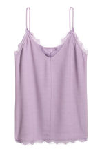 Strappy top with lace - Lilac - Ladies | H&M 2