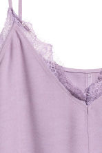 Strappy top with lace - Lilac - Ladies | H&M 3
