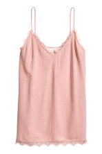 Strappy top with lace - Light pink - Ladies | H&M 2