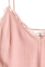 Strappy top with lace - Light pink - Ladies | H&M CN 3