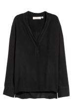V-neck blouse - Black -  | H&M 2