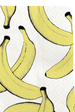 Paper napkins  - White/Bananas - Home All | H&M CN 2