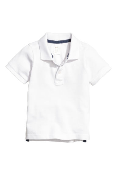 Polo in piqué - Bianco -  | H&M IT