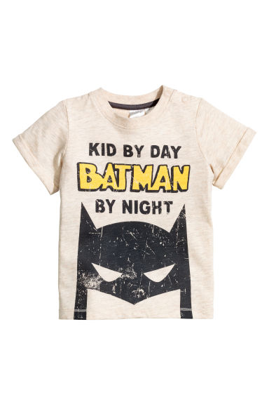 Printed T-shirt - Beige - Kids | H&M 1