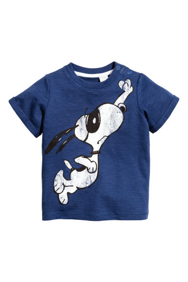 Printed T-shirt - Blue/Snoopy -  | H&M 1