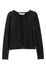 Fine-knit cardigan - Black - Kids | H&M CN 2