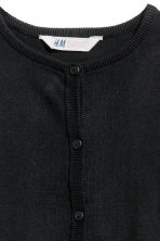 Fine-knit cardigan - Black - Kids | H&M CN 3