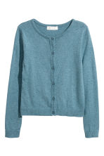 Fine-knit cardigan - Blue marl - Kids | H&M 1