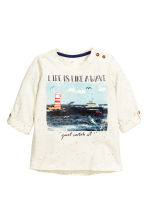 Long-sleeved T-shirt - Natural white - Kids | H&M 1