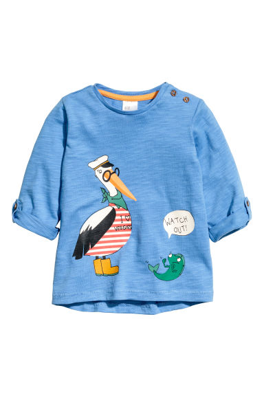 Long-sleeved T-shirt - Blue - Kids | H&M CN 1